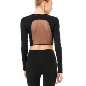 Black long sleeve Alo Yoga